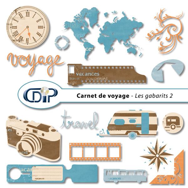 Kit « Carnet de voyage » - 06 - Les gabarits 2