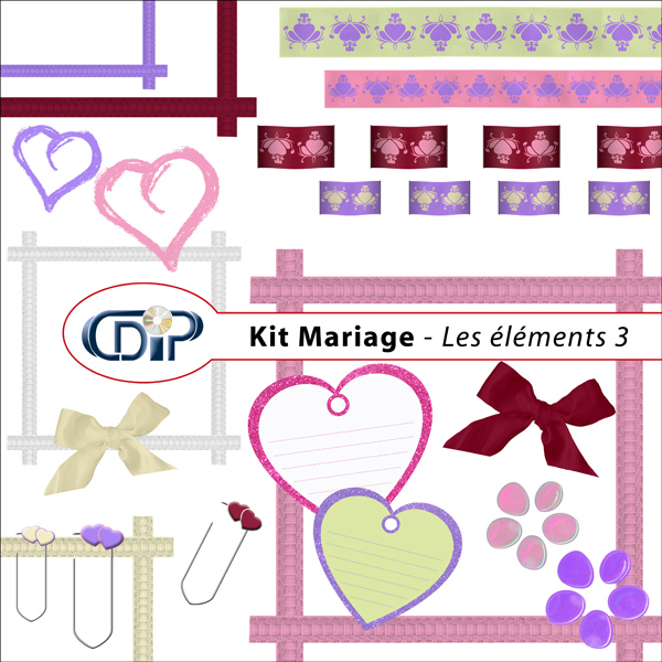 Kit « Mariage » - 04 - Les embellissements 3