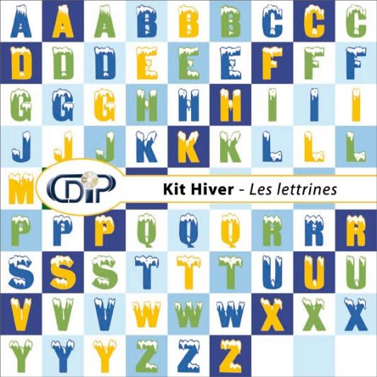 Kit « Hiver » - 07 - Les lettrines