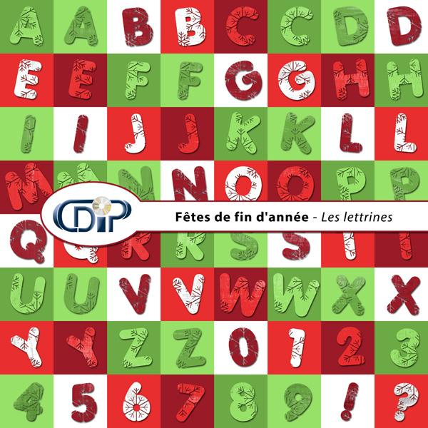 Kit « Fêtes de fin d'année » - 07 - Les lettrines