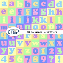 Kit « Naissance » - 07 - Les lettrines