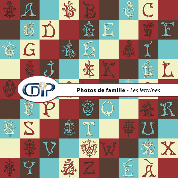 Kit « Photos de famille » - 07 - Les lettrines