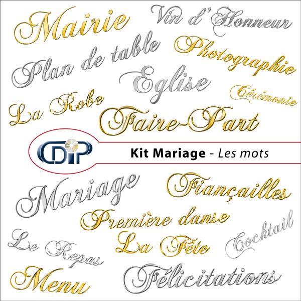 Kit « Mariage » - 08 - Les mots