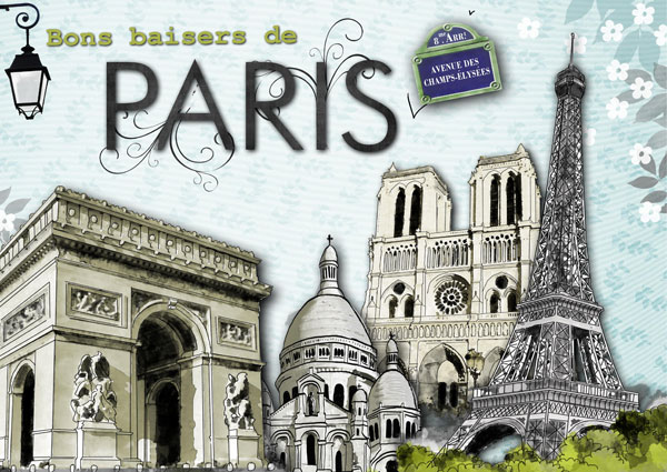 Digital kit romance in paris by download cdip boutique - Magasin de scrapbooking paris ...