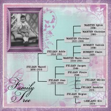 28 page scrap family tree papillon