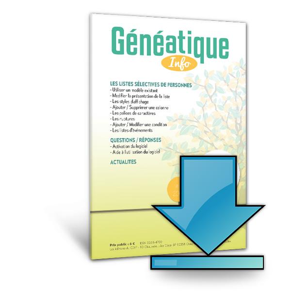 Ginfo - 00 - Abonnement « Généatique Info » par téléchargement