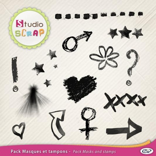 Pack-masques-et-tampons-symboles-web