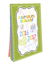 Impression calendrier mural format A4