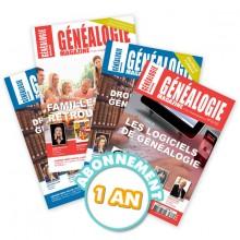 Généalogie magazine - Abonnement pour 1 an