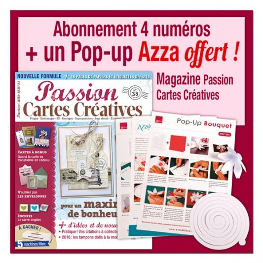 Abonnement 1 an au magazine Passion Cartes Créatives
