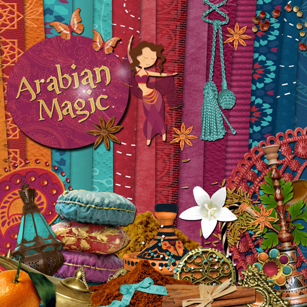 « Arabian magic » digital kit - 00 - Presentation