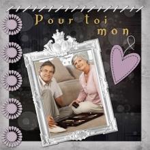 Modèle de carte « Cartes d'amour » - 01 - Compositon