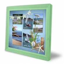 photo collage seaside cottage