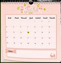 calendrier - 30x30 2016