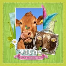 "Carte Gratuite ""Oh la Vache"""