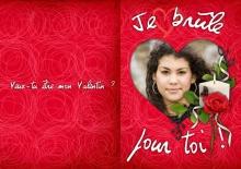 Modèle de carte « Cartes d'amour » - 07 - Compositon