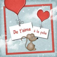 Modèle de carte « Cartes d'amour » - 09 - Compositon