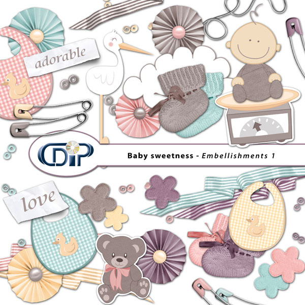 """Baby sweetness"" digital kit - 02 - Embellishments 1"