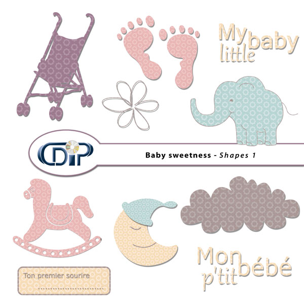"""Baby sweetness"" digital kit - 05 - Shapes 1"