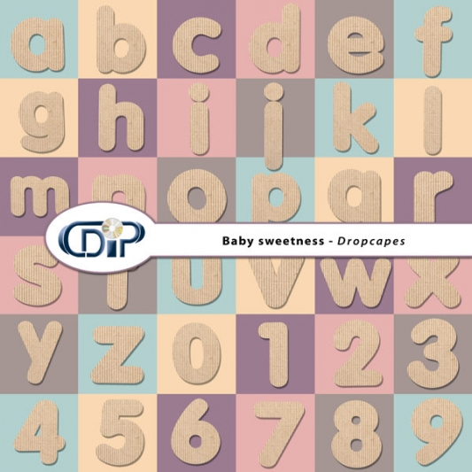 """Baby sweetness"" digital kit - 07 - Dropcaps"
