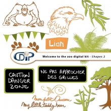 Kit « Bienvenue au zoo » - 06 - US - Les gabarits 2