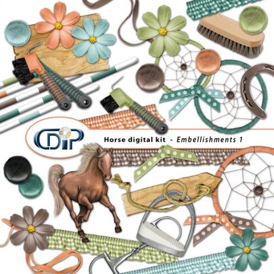 """Horse"" digital kit - 02 - Embellishments 1"