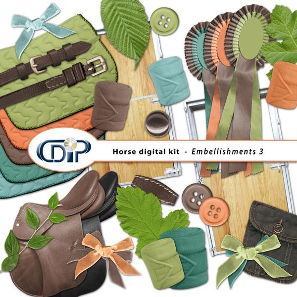 """Horse"" digital kit - 04 - Embellishments 3"