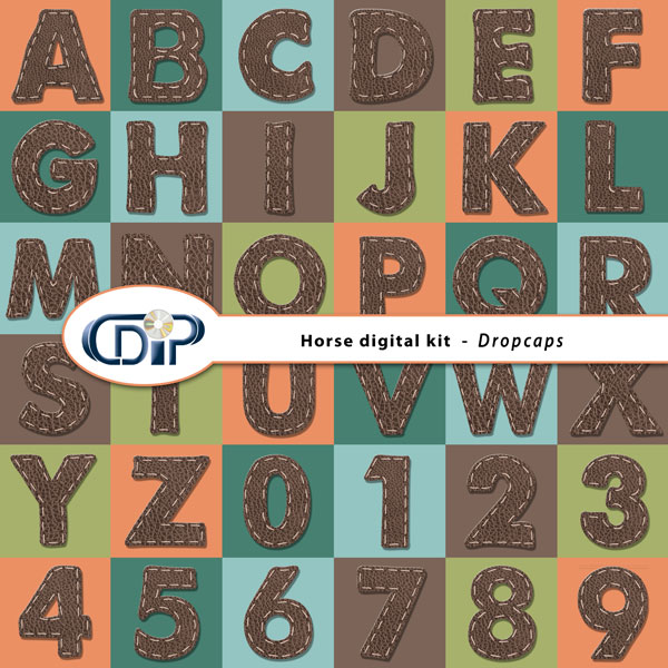 """""""Horse"""" digital kit - 07 - Dropcaps"""