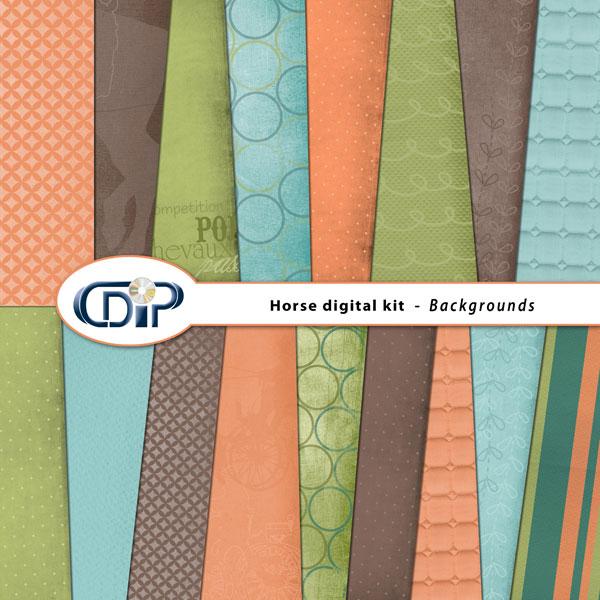 """Horse"" digital kit - 01 - Backgrounds"