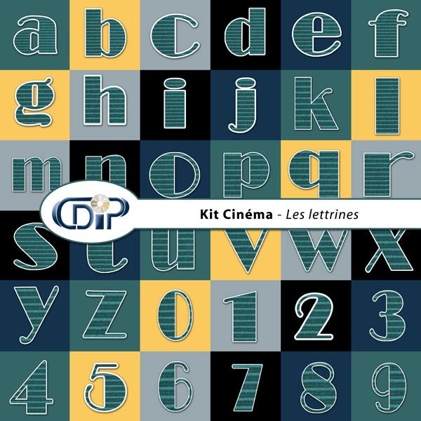 Kit « Cinéma » - 07 - Les lettrines