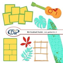Kit « Cocktail fruité » - 07 - Les gabarits 2
