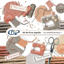 Kit « De fil en aiguille » - 02 - Les embellissements 1