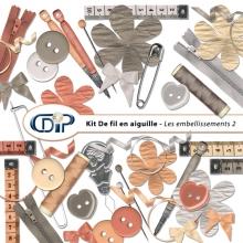 Kit « De fil en aiguille » - 03 - Les embellissements 2