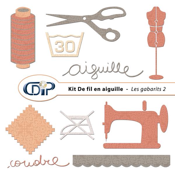 Kit « De fil en aiguille » - 06 - Les gabarits 2