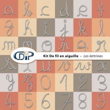 Kit « De fil en aiguille » - 07 - Les lettrines