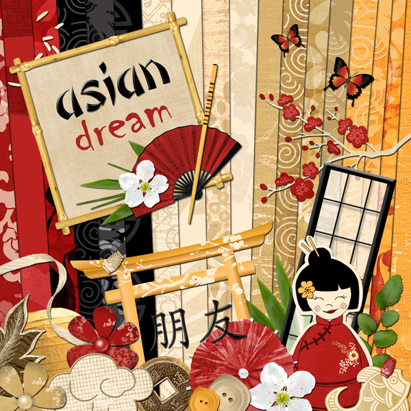 « Asian dream » digital kit - 00 - Presentation
