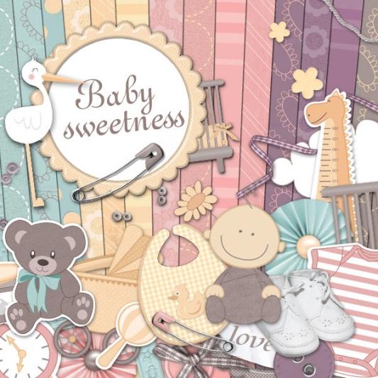 """Baby sweetness"" digital kit - 00 - Presentation"