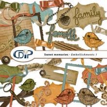 """""""Sweet memories"""" digital kit - 02 - Embellishments 1"""
