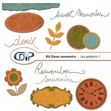 Kit « Doux souvenirs » - 05 - Les gabarits 1