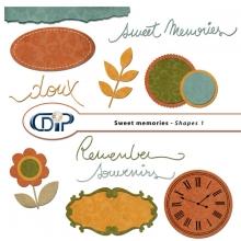 """Sweet memories"" digital kit - 05 - Shapes 1"