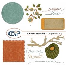 Kit « Doux souvenirs » - 06 - Les gabarits 2