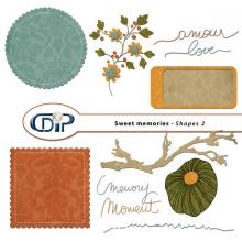 """Sweet memories"" digital kit - 06 - Shapes 2"