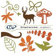 Kit « Esprit de la forêt » - 05 - Les gabarits 1
