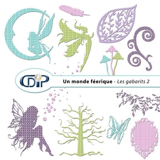 Kit « Un monde féerique » - 06 - Les gabarits 2