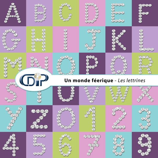Kit « Un monde féerique » - 07 - Les lettrines