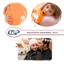 Anniversaries and birthdays digital kit masks