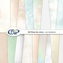 Kit « Fleur de coton » - 01 - Les textures