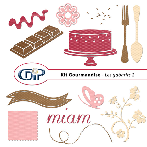Kit « Gourmandise » - 06 - Les gabarits 2