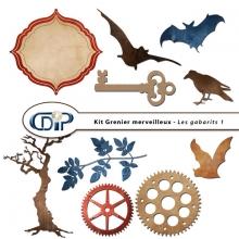 Kit « Grenier merveilleux » - 06 - Les gabarits 1