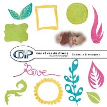 Kit « Les rêves de Prune au jardin magique » - 06 - Les gabarits 1